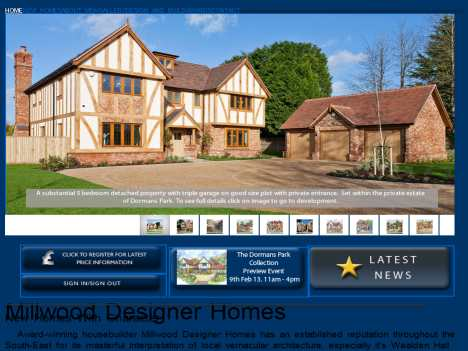 Millwood designer homes ltd official website for Designer homes com